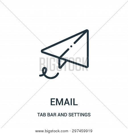 Email Icon Isolated On White Background From Tab Bar And Settings Collection. Email Icon Trendy And