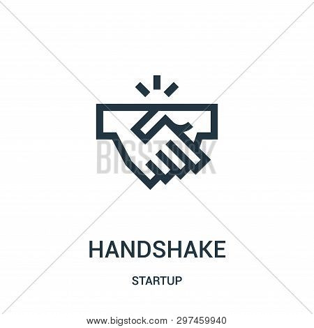 Handshake Icon Isolated On White Background From Startup Collection. Handshake Icon Trendy And Moder