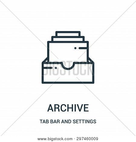 Archive Icon Isolated On White Background From Tab Bar And Settings Collection. Archive Icon Trendy