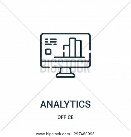 Analytics Icon Isolated On White Background From Office Collection. Analytics Icon Trendy And Modern