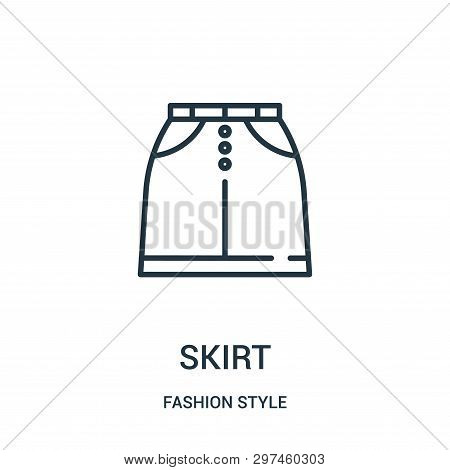Skirt Icon Isolated On White Background From Fashion Style Collection. Skirt Icon Trendy And Modern