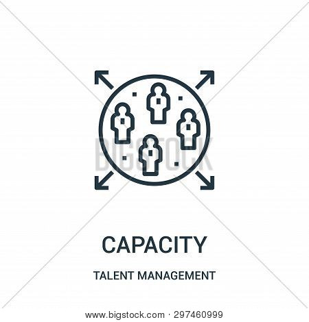 Capacity Icon Isolated On White Background From Talent Management Collection. Capacity Icon Trendy A