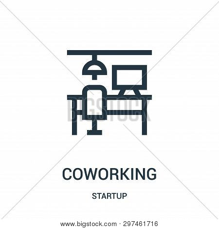 Coworking Icon Isolated On White Background From Startup Collection. Coworking Icon Trendy And Moder