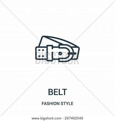 Belt Icon Isolated On White Background From Fashion Style Collection. Belt Icon Trendy And Modern Be