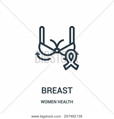 Breast Icon Isolated On White Background From Women Health Collection. Breast Icon Trendy And Modern