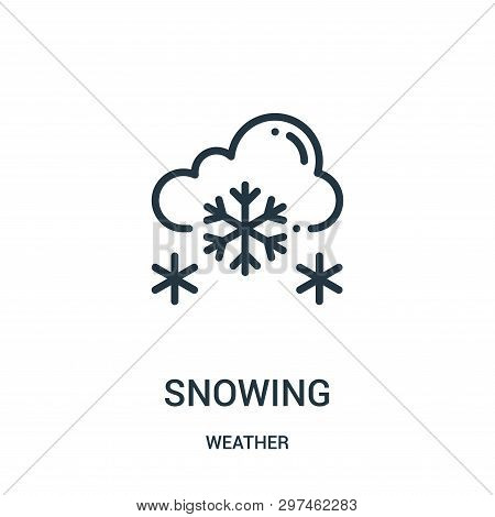 Snowing Icon Isolated On White Background From Weather Collection. Snowing Icon Trendy And Modern Sn