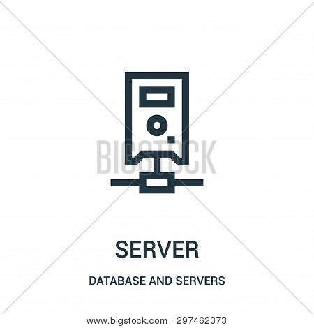 Server Icon Isolated On White Background From Database And Servers Collection. Server Icon Trendy An