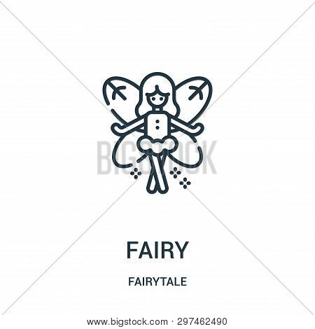 Fairy Icon Isolated On White Background From Fairytale Collection. Fairy Icon Trendy And Modern Fair