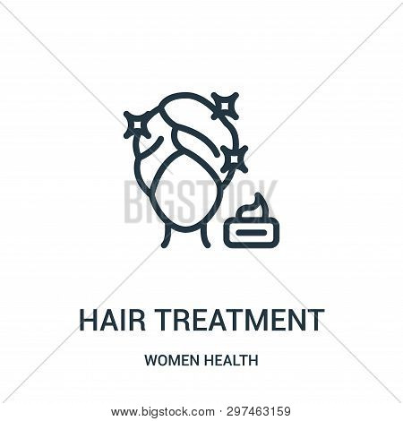 Hair Treatment Icon Isolated On White Background From Women Health Collection. Hair Treatment Icon T