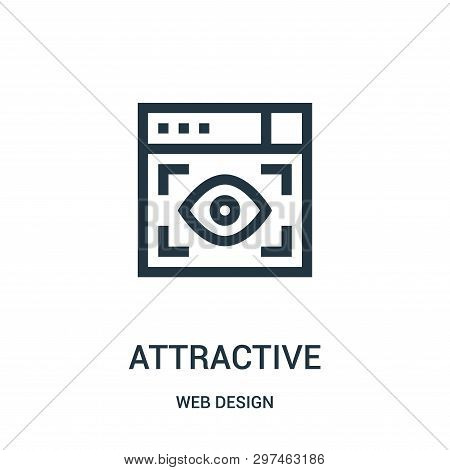 Attractive Icon Isolated On White Background From Web Design Collection. Attractive Icon Trendy And