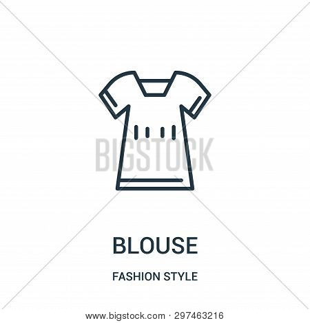 Blouse Icon Isolated On White Background From Fashion Style Collection. Blouse Icon Trendy And Moder