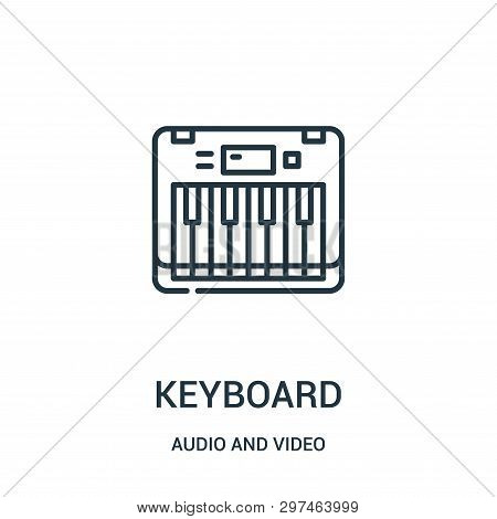 Keyboard Icon Isolated On White Background From Audio And Video Collection. Keyboard Icon Trendy And