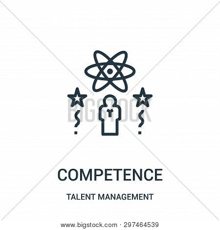 Competence Icon Isolated On White Background From Talent Management Collection. Competence Icon Tren