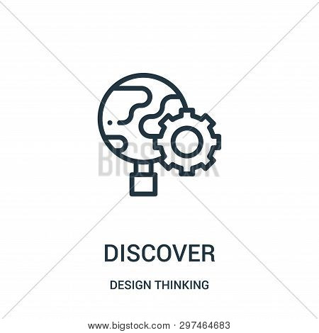 Discover Icon Isolated On White Background From Design Thinking Collection. Discover Icon Trendy And