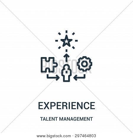 Experience Icon Isolated On White Background From Talent Management Collection. Experience Icon Tren