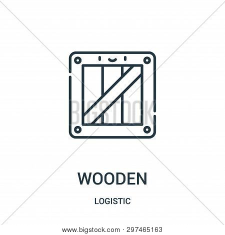 Wooden Icon Isolated On White Background From Logistic Collection. Wooden Icon Trendy And Modern Woo