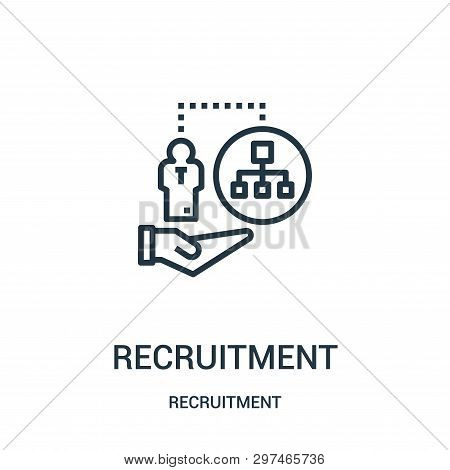 Recruitment Icon Isolated On White Background From Recruitment Collection. Recruitment Icon Trendy A