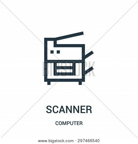 Scanner Icon Isolated On White Background From Computer Collection. Scanner Icon Trendy And Modern S