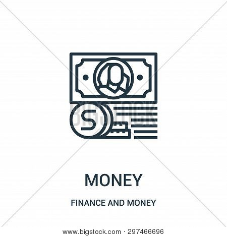 Money Icon Isolated On White Background From Finance And Money Collection. Money Icon Trendy And Mod