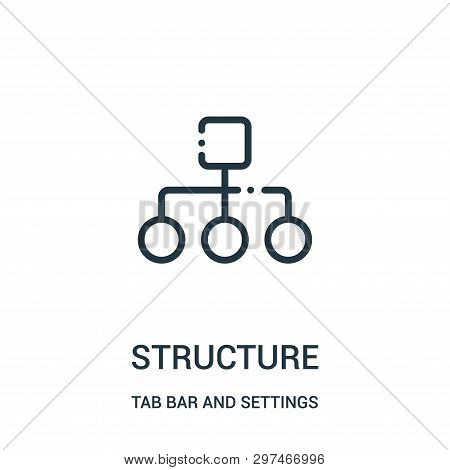 Structure Icon Isolated On White Background From Tab Bar And Settings Collection. Structure Icon Tre