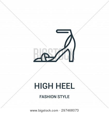 High Heel Icon Isolated On White Background From Fashion Style Collection. High Heel Icon Trendy And