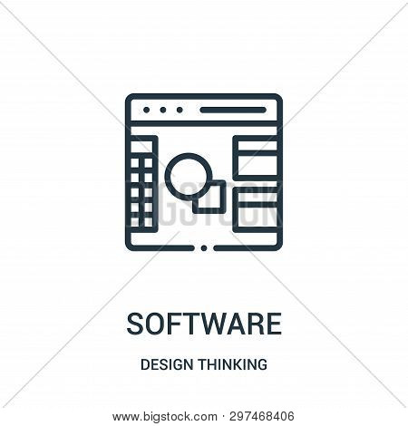Software Icon Isolated On White Background From Design Thinking Collection. Software Icon Trendy And