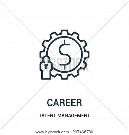 Career Icon Isolated On White Background From Talent Management Collection. Career Icon Trendy And M