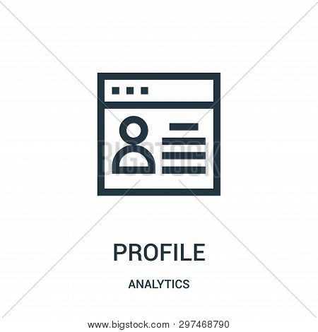 Profile Icon Isolated On White Background From Analytics Collection. Profile Icon Trendy And Modern