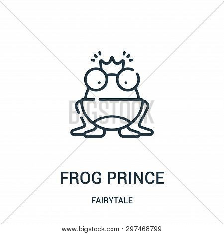 Frog Prince Icon Isolated On White Background From Fairytale Collection. Frog Prince Icon Trendy And