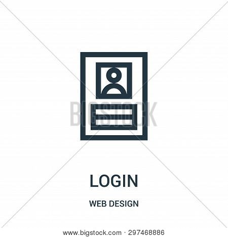 Login Icon Isolated On White Background From Web Design Collection. Login Icon Trendy And Modern Log