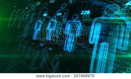 Social Scoring And People Rating Advanced Algorithm Concept On Digital Background. Profiling And Hum