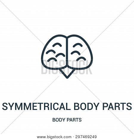 Symmetrical Body Parts Icon Isolated On White Background From Body Parts Collection. Symmetrical Bod
