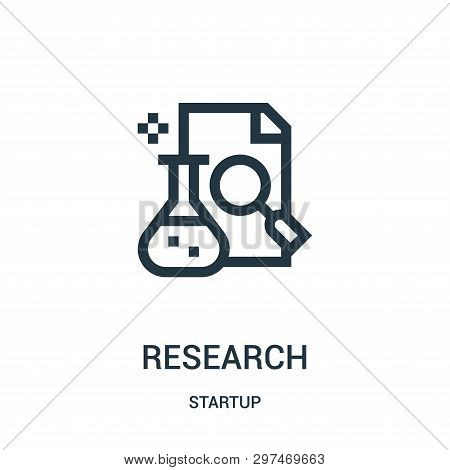 Research Icon Isolated On White Background From Startup Collection. Research Icon Trendy And Modern