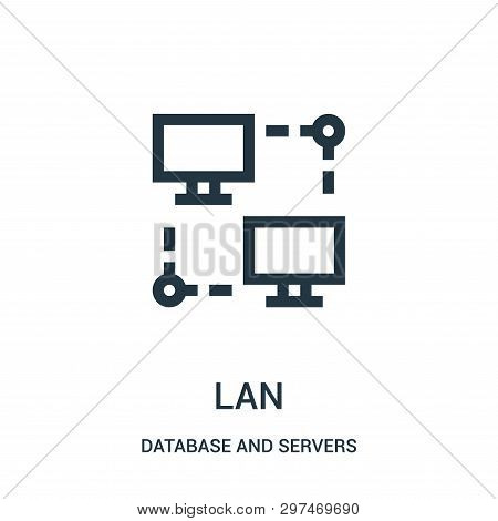 Lan Icon Isolated On White Background From Database And Servers Collection. Lan Icon Trendy And Mode