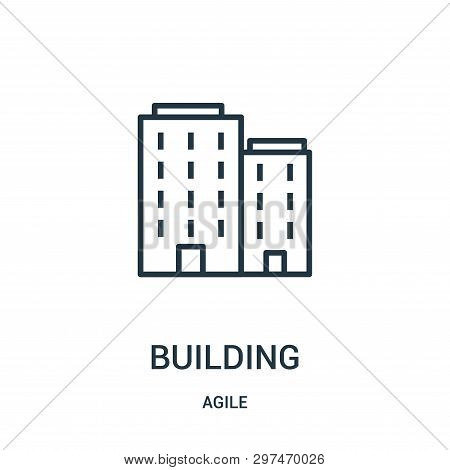 Building Icon Isolated On White Background From Agile Collection. Building Icon Trendy And Modern Bu