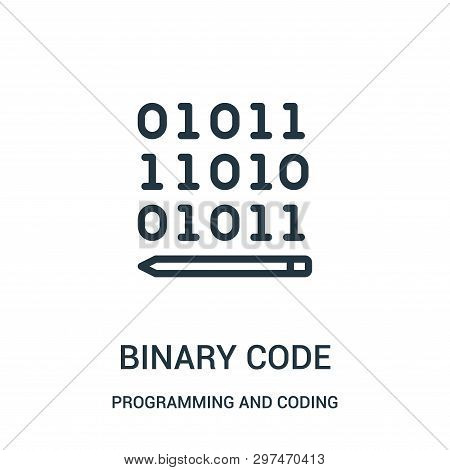 Binary Code Icon Isolated On White Background From Programming And Coding Collection. Binary Code Ic