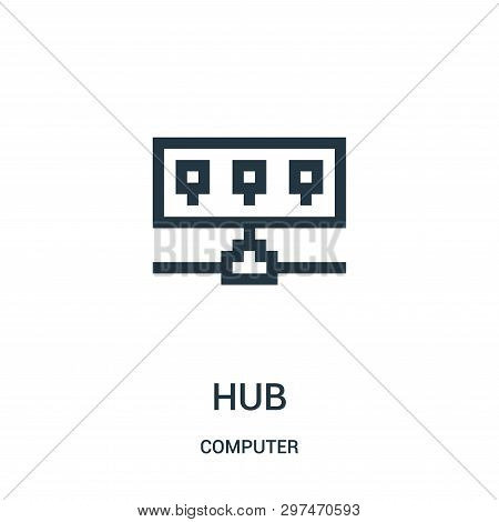 Hub Icon Isolated On White Background From Computer Collection. Hub Icon Trendy And Modern Hub Symbo