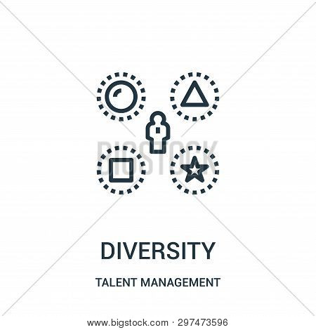 Diversity Icon Isolated On White Background From Talent Management Collection. Diversity Icon Trendy