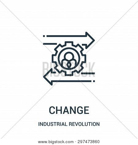 Change Icon Isolated On White Background From Industrial Revolution Collection. Change Icon Trendy A