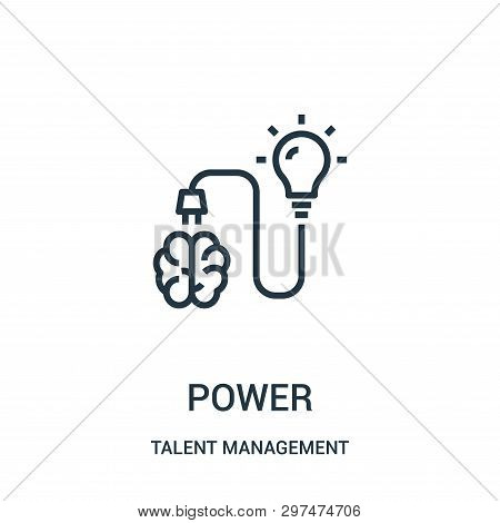 Power Icon Isolated On White Background From Talent Management Collection. Power Icon Trendy And Mod