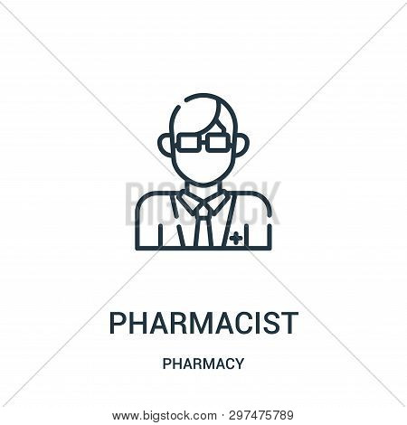 Pharmacist Icon Isolated On White Background From Pharmacy Collection. Pharmacist Icon Trendy And Mo