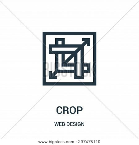 Crop Icon Isolated On White Background From Web Design Collection. Crop Icon Trendy And Modern Crop