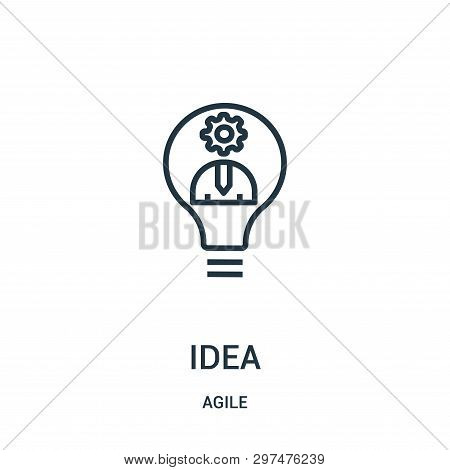 Idea Icon Isolated On White Background From Agile Collection. Idea Icon Trendy And Modern Idea Symbo