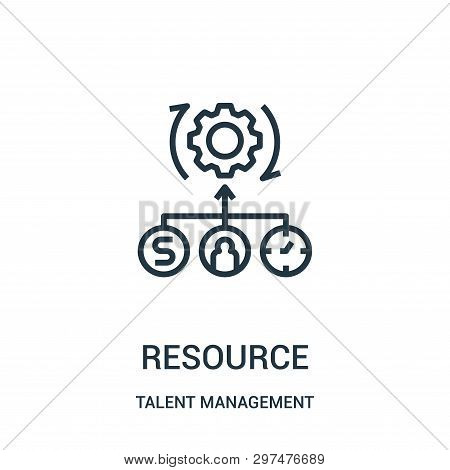 Resource Icon Isolated On White Background From Talent Management Collection. Resource Icon Trendy A
