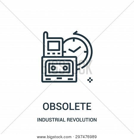 obsolete icon isolated on white background from industrial revolution collection. obsolete icon trendy and modern obsolete symbol for logo, web, app, UI. obsolete icon simple sign. obsolete icon flat vector illustration for graphic and web design. poster