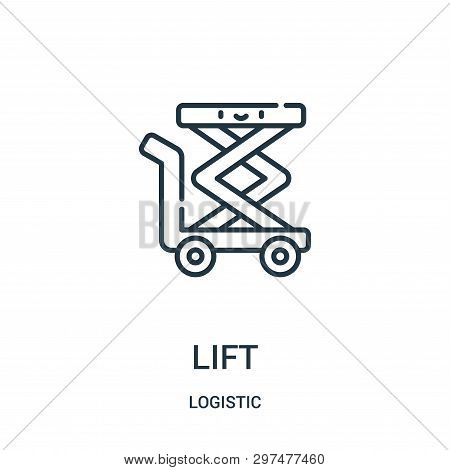 Lift Icon Isolated On White Background From Logistic Collection. Lift Icon Trendy And Modern Lift Sy