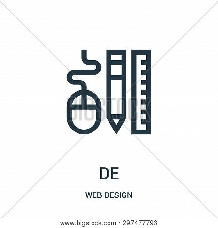 Design Tools Icon Isolated On White Background From Web Design Collection. Design Tools Icon Trendy