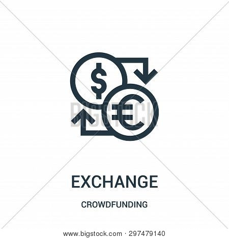 Exchange Icon Isolated On White Background From Crowdfunding Collection. Exchange Icon Trendy And Mo