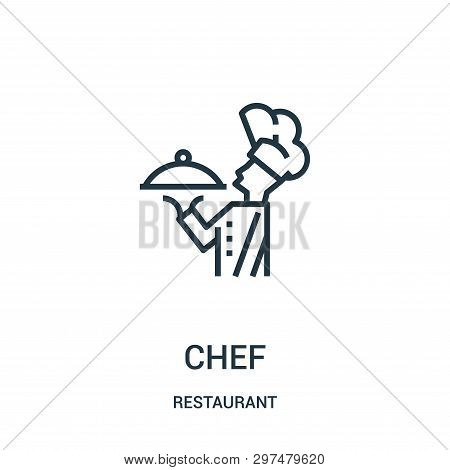 Chef Icon Isolated On White Background From Restaurant Collection. Chef Icon Trendy And Modern Chef