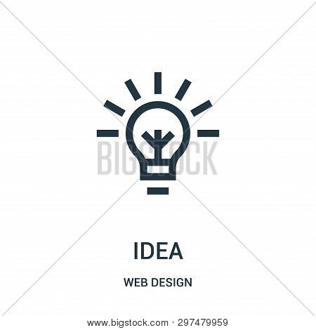 Idea Icon Isolated On White Background From Web Design Collection. Idea Icon Trendy And Modern Idea